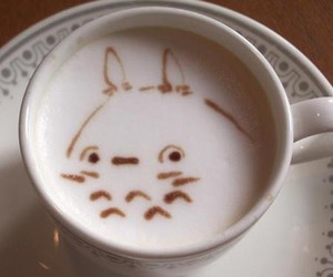 coffee, totoro, and cute image