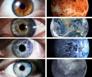 cool, eyes, and planets image