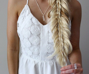 braid, hairstyle, and shoes image
