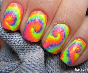 nails and tie dye image