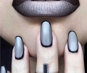nails, lips, and makeup image