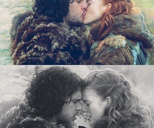 game of thrones, jon snow, and ygritte image