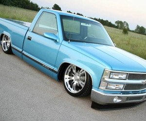 blue, chevy, and chrome image
