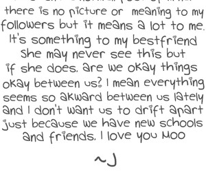 best friends, drifting away, and I Love You image