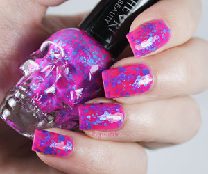 glitter, nails, and neon image