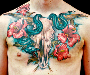 bloy, chest, and flowers image