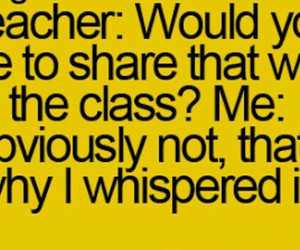 class, funny, and laughing image