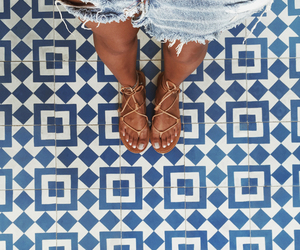 sandals and floor image