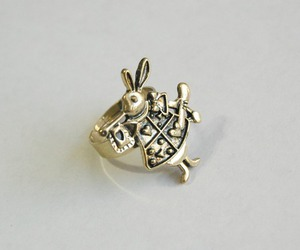 alice in wonderland, jewelry, and white rabbit image