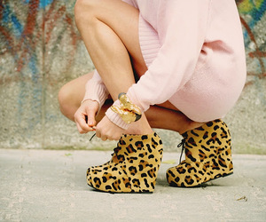 shoes, leopard, and pink image