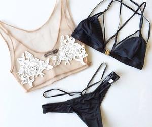 fashion, lingerie, and black image