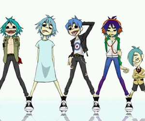 gorillaz and 2-d image