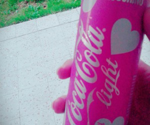 coca cola, light, and pink image