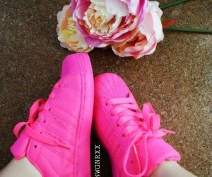 flower, pink, and schuhe image