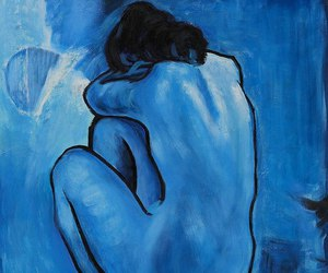 art, blue, and picasso image
