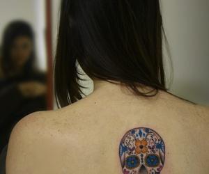 skin, skull, and tatoo image
