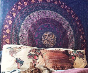 bed, bohemian, and inspiration image