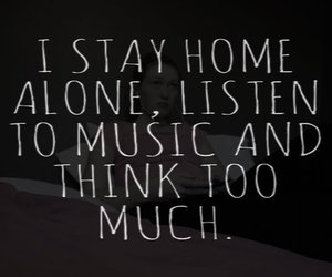 quotes, music, and sad image