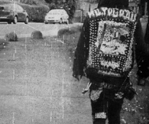 black and white, patches, and punk image
