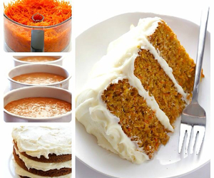 cake, carrots, and cooking image