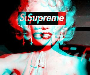 supreme, Marilyn Monroe, and wallpaper image