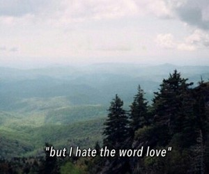 hate, love, and sad image