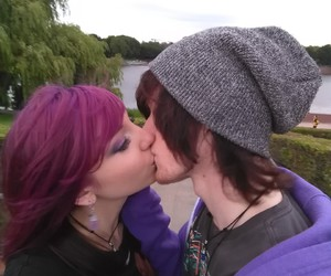 cute couple, emo, and heartless image