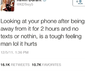 kevin durant knows and hurts after awhile image