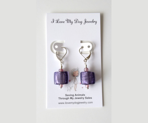 special gift, ilovemydogjewelry, and murano glass earrings image