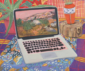 art, painting, and computer image