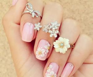 flower, jewels, and jewel image