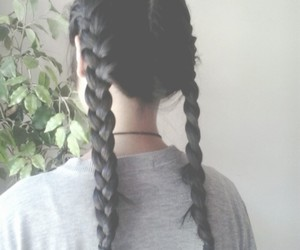 hair, grunge, and braid image