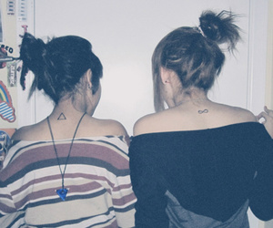 best friends, girls, and hipster image