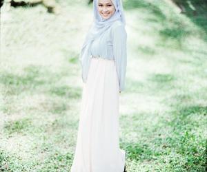 dress, hijab, and girl image