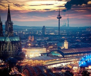 cities, cologne, and night image