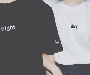 night, day, and black image