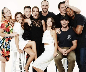 arrow, stephen amell, and katie cassidy image