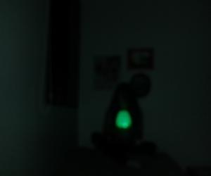 dark, night, and green image