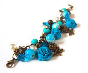 blue rose, bracelet, and bridesmaid image
