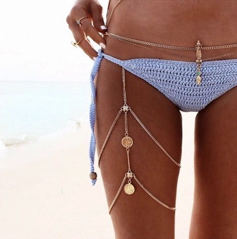 bikini, bohemian, and fashion image