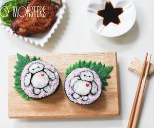 food, kawaii, and sushi image