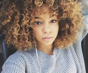 curly hair, curly, and curls image