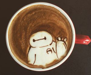 baymax, coffee, and drink image