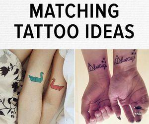 matching, tatto, and love image