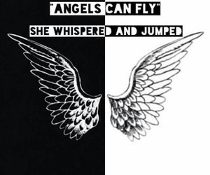 angel, black, and fly image