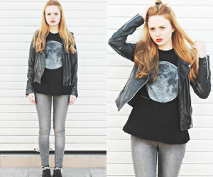 blusa, jeans, and longo image