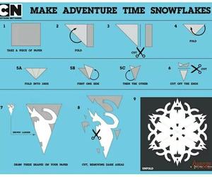 adventure time, snowflake, and copos de nieve image