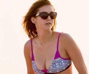 background, bikini, and Nina Dobrev image