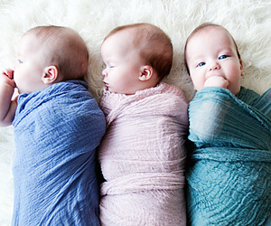 newborn, photography, and triplets image