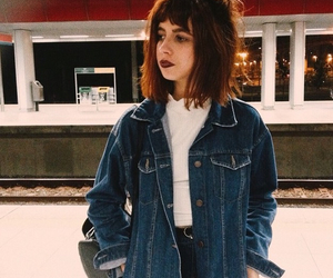 aesthetic, jeans jacket, and art image